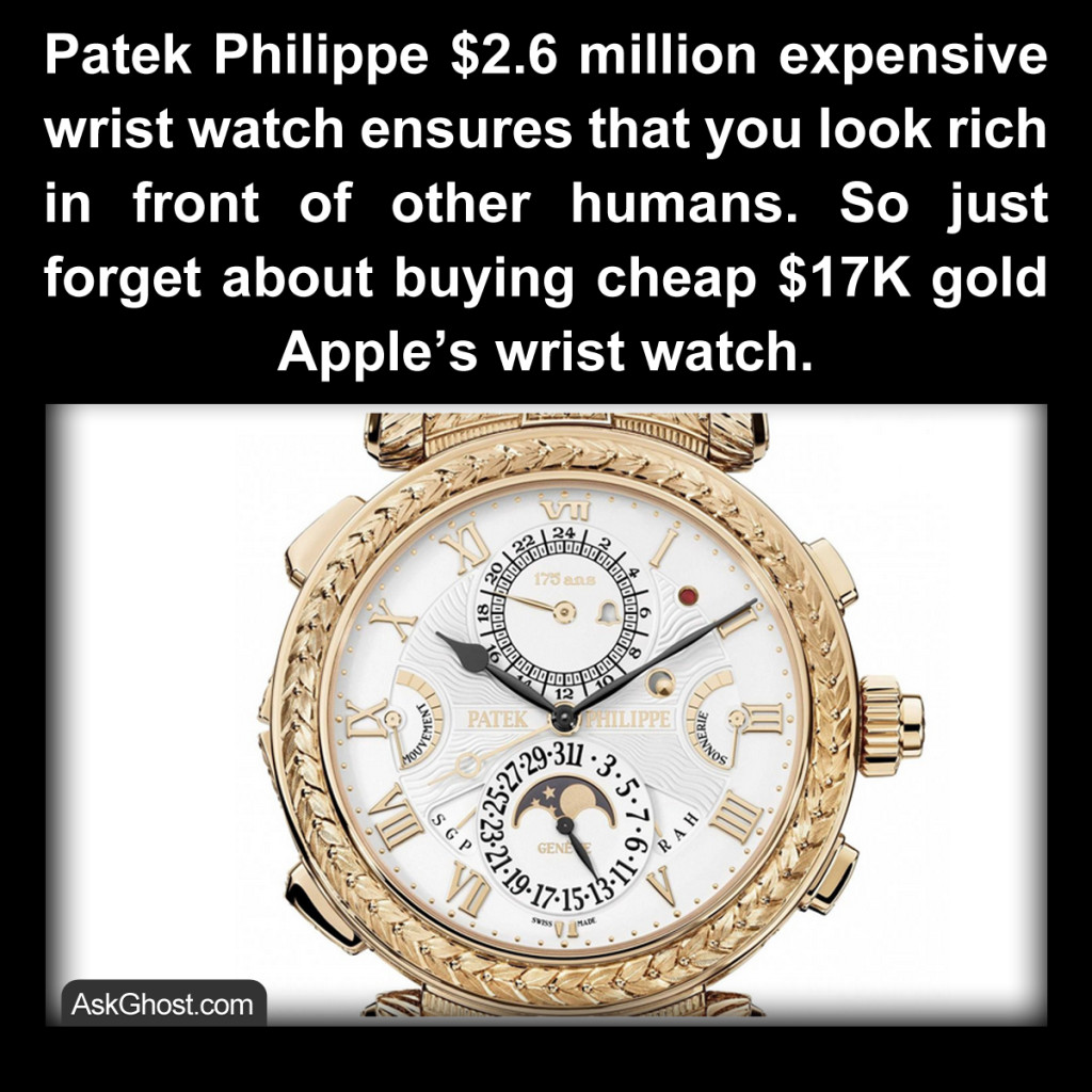 Patek Philippe $2.6 Million Wristwatch